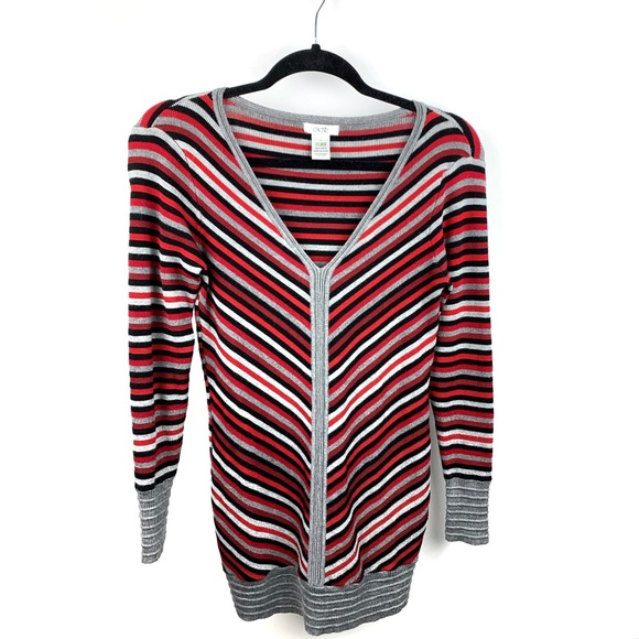 Cache Dresses & Skirts - Cache Striped Bodycon Tunic Sweater Dress Small